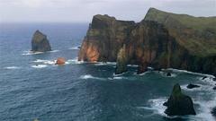 PONTA DO CASTELO PONTA DO SAO ATLANTIC OCEAN Stock Footage