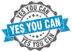 Yes you can stamp. sign. seal Stock Illustration