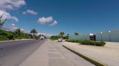 Mexico Riviera luxury resort entrance Cancun POV HD Stock Footage