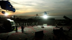 Horror zombie crowd walking. Apocalypse view, concept. Realistic 4K animation Stock Footage