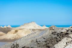 Mud volcano erupting mud, Gobustan, Azerbaijan Kuvituskuvat