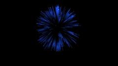 3D Render. Single Firework ball. Computer Graphic. Firework Display. Ver. 6 Stock Footage