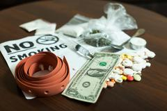 Narcotic dependence concept. Stock Photos