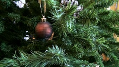 Christmas tree decorated with toys. Arkistovideo