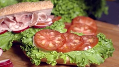 Adding oil for the beginning of a scrumptious sandwich.  Stock Footage