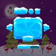 Sweet vector winter user interface game Stock Illustration