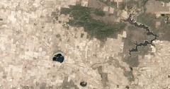 High-altitude overflight aerial of Black Range area of Victoria, Australia Stock Footage