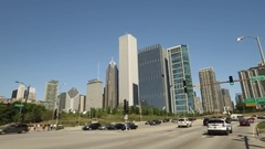 Drive shot into Chicago from the southside. Stock Footage