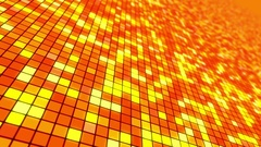 Disco Dance Floor Seamless VJ Loop Motion Background Orange Red Yellow Hot Stock Footage