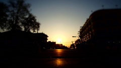 Time lapse - People walking in street on sunset Stock Footage