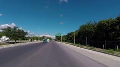 Mexico Mayan Riviera resorts driving highway POV HD Stock Footage