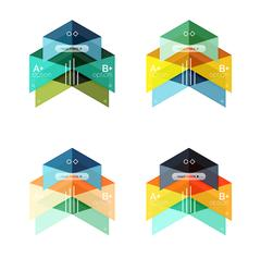 Vector collection of colorful geometric shape infographic banners Stock Illustration