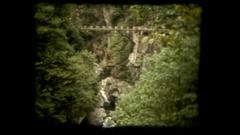 Vie bridge suspended Stock Footage