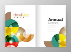 Abstract circles, annual report covers Stock Illustration