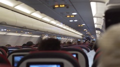 Inside full airplane fuselage, Turkish Airways Stock Footage