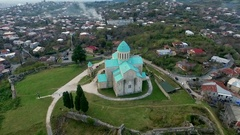 Bagrati Cathedral in Kutaisi center, Georgia Stock Footage