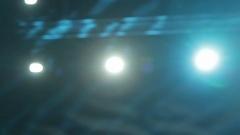 Blue Stage Spotlights Stock Footage