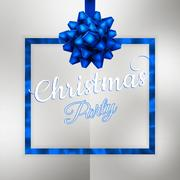 Christmas night party poster or flyer. EPS 10 Stock Illustration