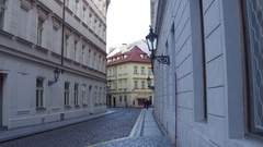 PRAGUE, CZECH REPUBLIC - DECEMBER 3, 2016. 4K steadicam video of Old town street Stock Footage