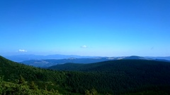 Carpathians Mountains. Panorama. Stock Footage