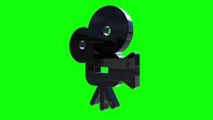 Movie camera logo rotate Stock Footage