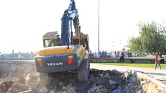 Volvo Construction Equipment, one of the world's foremost manufacturers Stock Footage