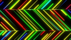 Metro Light Streaks Zig Zag Seamless Loop Multicolor Stock Footage
