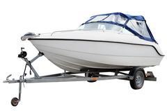 White motor boat. Kuvituskuvat