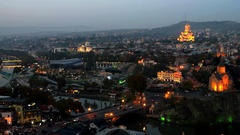 Beautiful view of Tbilisi Stock Footage