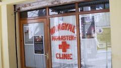 Monastery Clinic, Dalai Lama Complex, Mcleod Ganj, Dharamsala, India Stock Footage