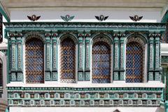Tiled facade of the new Jerusalem resurrection monastery. Stock Photos