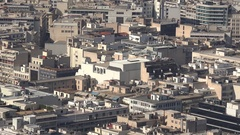 4K Pan right Athens crowded downtown and suburban area aerial view of building  Stock Footage