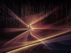 Virtualization of Light Waves Stock Illustration