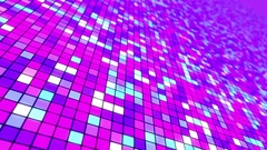 Disco Dance Floor Seamless VJ Loop Motion Background Purple Cyan Blue Stock Footage