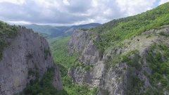 Grand canyon of Crimea. Aerial of the Crimean mountains Stock Footage