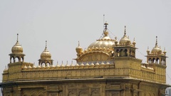 Golden Temple, Harmandir Sahib, roof, Amritsar, India Stock Footage