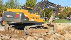 Crawler Excavator EC 360 CL VOLVO (Tier 3) Stock Footage