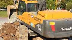 Excavator VOLVO EC 360 CL (Close Up) Stock Footage