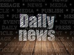 News concept: Daily News in grunge dark room Stock Illustration