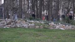 Political delegation from EU visiting Belgrade's botanical garden in 2016 Stock Footage