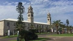 Clock Tower Mall - Kings Wharf, Bermuda Stock Footage