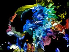 Illusion of Self Fragmentation Stock Illustration