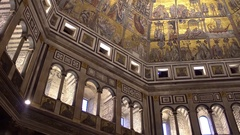 FLORENCE, ITALY: Interior of Battistero di San Giovanni Stock Footage