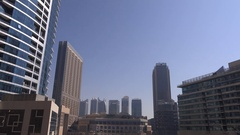 Inside Dubai Marina business skyscrapers hotels destination expensive travel 4K Stock Footage