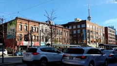 Busy Spadina street in Chinatown during rush hours, downtown Toronto, Canada  Stock Footage