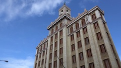 Bacardi Building in the Central Havana, Cuba Stock Footage