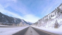 POV point of view - Driving on highway I70 in the Winter. Stock Footage