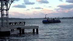 Ferry service between Havana and Regla. Cuba Stock Footage