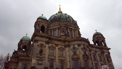 Berlin Cathedral Church, Berliner Dom, long shot, Germany Stock Footage