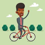 Man riding bicycle vector illustration Stock Illustration